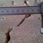 Наблюдение за трещинами в строительных конструкциях по 4 фиксированным точкам