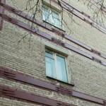Стяжка стен с трещинами стальными тяжами