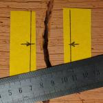 Наблюдение за трещиной при помощи клейкой ленты